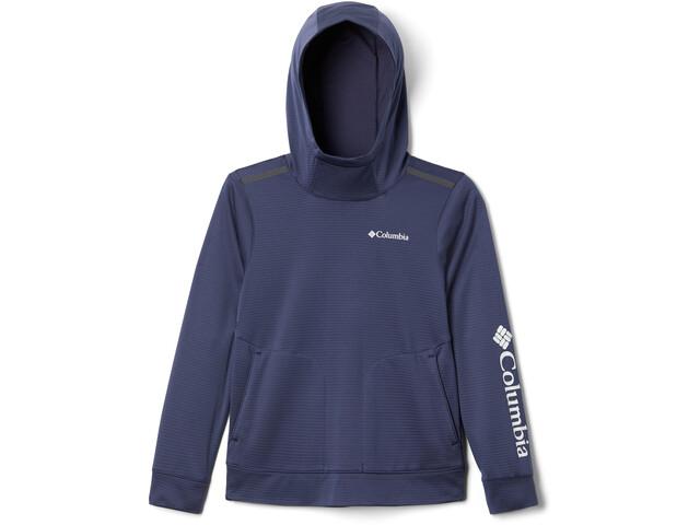 Columbia Tech Trek Veste à capuche Enfant, nocturnal/white grey logo
